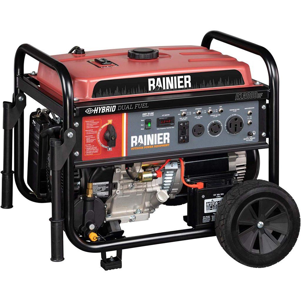 Rainier R12000DF Dual Fuel Generator