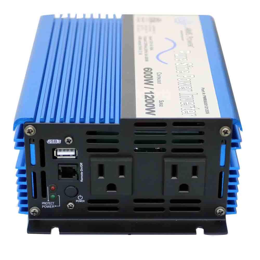 AIMS Power 600 Pure Sine Wave Inverter