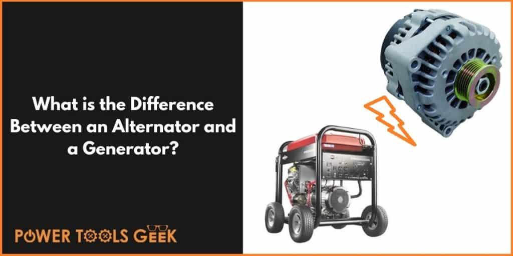 An Alternator And A Generator