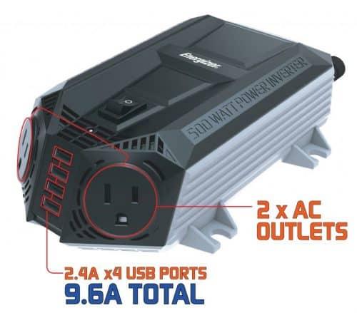 ENERGIZER 500 Watt Power Inverter for Car
