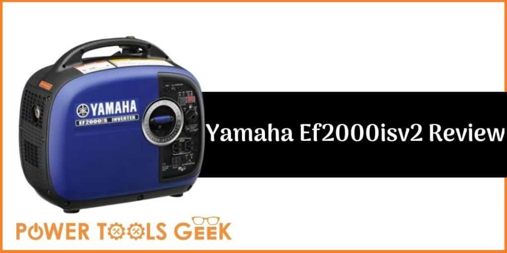Yamaha Ef2000isv2 Portable Inverter Generator