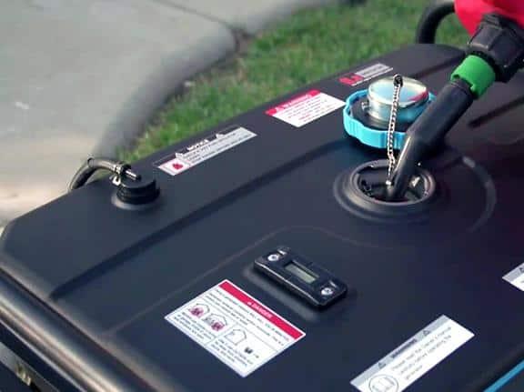 fuel capacity of a generator